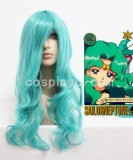 Pretty Soldier,Sailor Moon-Kaiou Michiru Light Green Cosplay wig WIG-209A