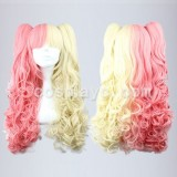70cm Long Pink and Yellow Mixed Beautiful lolita wig WIG-222A