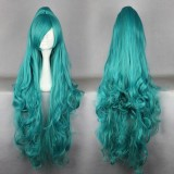 100cm Long Curly color Mixed Anime Cosplay wig one ponytail WIG-339H