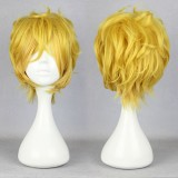 32cm Short karneval- YOGI Yellow Anime Cosplay wigWIG-339B