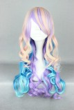 50CM Long curly Lolita Wig MixColor WIG-462A