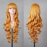 80cm Long Wave Lolita Wig Yellow Golden Wig WIG-590H