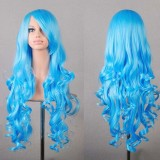 80cm Long Wave Lolita Wig Light Blue Wig WIG-590L
