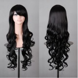 80cm Long Wave Lolita Wig Black Color Wig WIG-590A