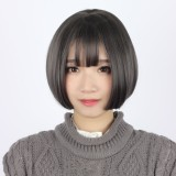 30cm Short Straight Lolita Wig Smoke Gray Wig WIG-604C