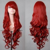 80cm Long Wave Lolita Wig Red Color Wig WIG-590B