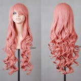 80cm Long Wave Lolita Wig Pink Color Wig WIG-590E