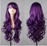80cm Long Wave Lolita Wig Purple Color Wig WIG-590C