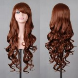 80cm Long Wave Lolita Wig Brown Wig WIG-590J
