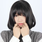 35cm Short Straight Lolita Wig Dark Brown Wig WIG-604A