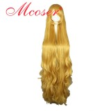 135CM GOSICK-Victorique De Blois Long Curly cosplay Wig Yellow Color WIG-501D