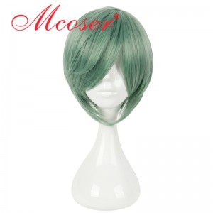 35cm Short Straight Bamboo Green Cosplay Wig WIG-658J