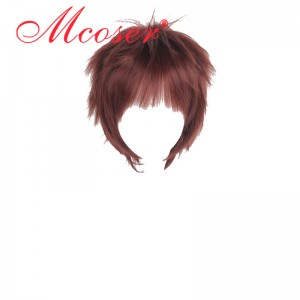 35cm Short Straight Dark Red Cosplay Wig WIG-658N