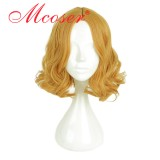 35cm Short Wave Orange Cosplay Wig WIG-661C