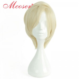 35cm Short Straight Yellow Cosplay Wig WIG-658B