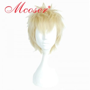 35cm Short Straight Golden Yellow Cosplay Wig WIG-661B