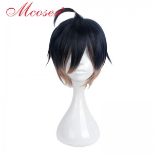 35cm Short Straight Mixed Color Cosplay Wig WIG-658H