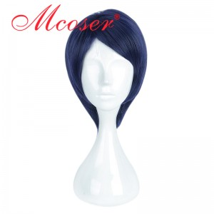 35cm Short Straight Dark Blue Cosplay Wig WIG-661G