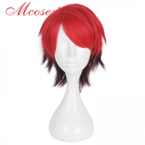 35cm Short Straight Mixed Color Cosplay Wig WIG-658S