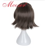 30cm Short Straight Deep Brown Cosplay Wig WIG-661A