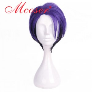 35cm Short Straight Purple Cosplay Wig WIG-658Q