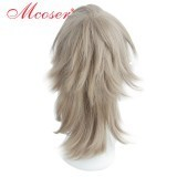 50cm Medium Straight Brown Cosplay Wig WIG-658L