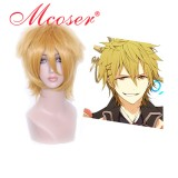 Ao no Exorcist-shima renzou golden cosplay wig 037A