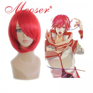 Vocaloid-AKAITO dull-red cosplay wig 075A