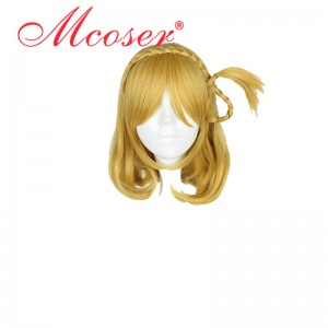 45cm Medium Straight LoveLive!Sunshine!! Takami Chika Yellow Gloden Cosplay Wig WIG -610A
