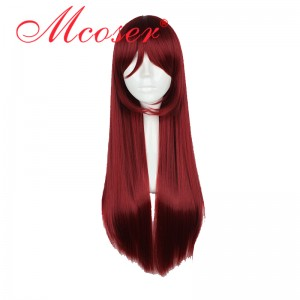 80cm Long Straight LoveLive!Sunshine!! Sakurauchi Riko Red Cosplay Wig WIG-610E