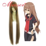 Okami-san-OOKAMI RYOUKO light brown Cosplay wig 018N