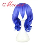 45cm Medium karneval-キイチBlue Mixed Anime Cosplay wigWIG-339D
