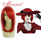 Black Butler-MADAME ROUGE wine red Cosplay wig 022B