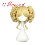 35cm Long Light Golden Beautiful Lolita Wig WIG-301B