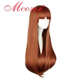 70CM Lolita/zipper Brown Color Long Staitght Wig WIG-397A
