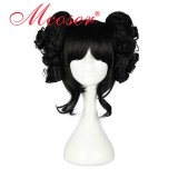 35cm Short Back Straight Beautiful Lolita wig +two ponytails WIG-301F