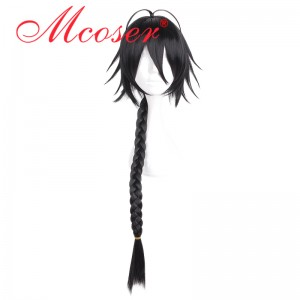 90cm Long Straight Black Cosplay Wig WIG-662A