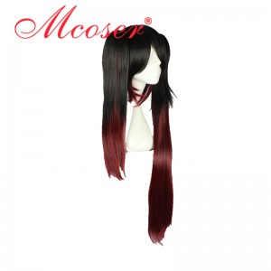 80CM Long Straight DATE A LIVE-Tokisaki Kurumi Mix Color Cosplay Wig WIG-556B