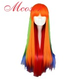 70CM Lolita wig Mix Color Long Straight Hair WIG-510A