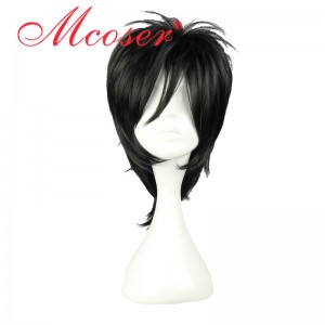 Togainu no Chi-Shiki black short Cosplay wig002B
