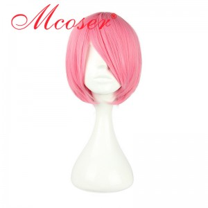 30CM Hitman Reborn Gatling Pink Color Cosplay Wig WIG-069H