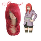 Naruto-Uzumaki Karin wine red cosplay wig 058B