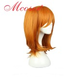 48CM Short Straight Love Live!  Honoka Kosaka Orange Color Cosplay Wig WIG-560J