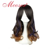 50cm Long Color Mixed Curly Beautiful Lolita wig