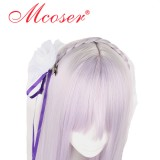 90cm Long Straight different world from scratch life-Amelia Purple Cosplay Wig WIG-618A