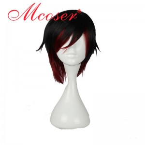 RWBY Ruby Rose Red Short Cosplay Wig WIG-011A