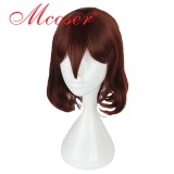 40cm Short Curly Dream Kingdom and sleeping prince 100-Care of the household Red Cosplay Wig WIG-606D