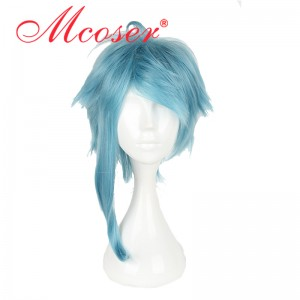 50cm Medium Straight Dream Kingdom and sleeping prince 100-Luo Lufu Blue Cosplsy Wig WIG-606C