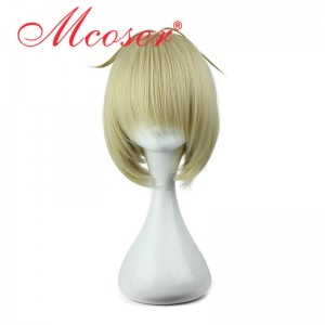 Ao no Exorcist-moriyama shiemi Soft Gold cosplay wig 062A