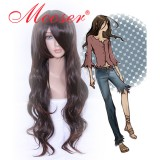 NO.6-Inukashi Dark brown long Cosplay wig006A